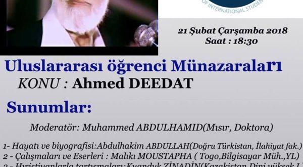 Ahmet Deedat Konulu Münazara